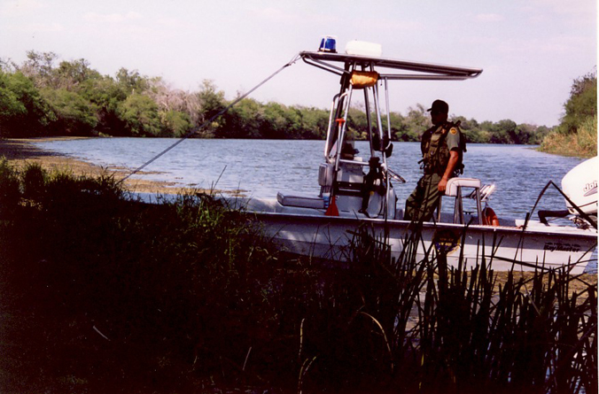 River patrol on Rio Grande in Hidalgo County.