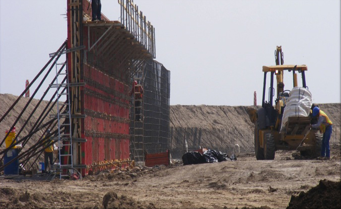 Early construction of border wall in Hidalgo County