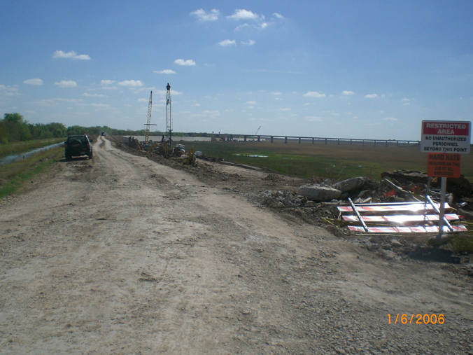 Border wall under construction near Anzalduas County Park