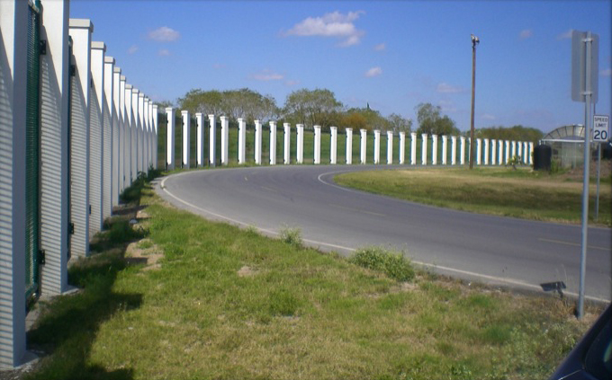 Completed fence at University of Texas-Brownsville