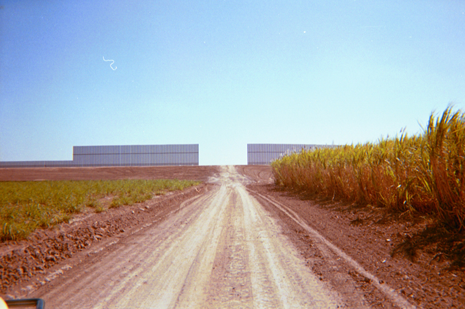 No gate in completed wall near Weslaco, Texas