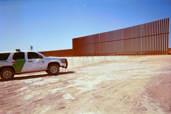 View of wall from the north side near McAllen, Texas
