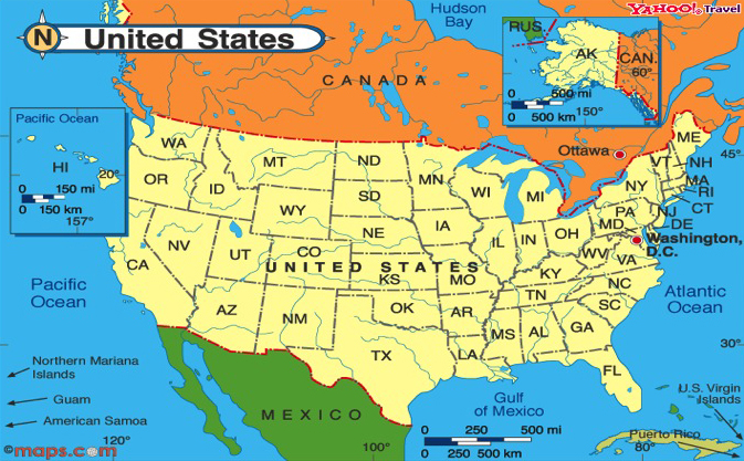 map us mexico border – Map of the Us and Mexico